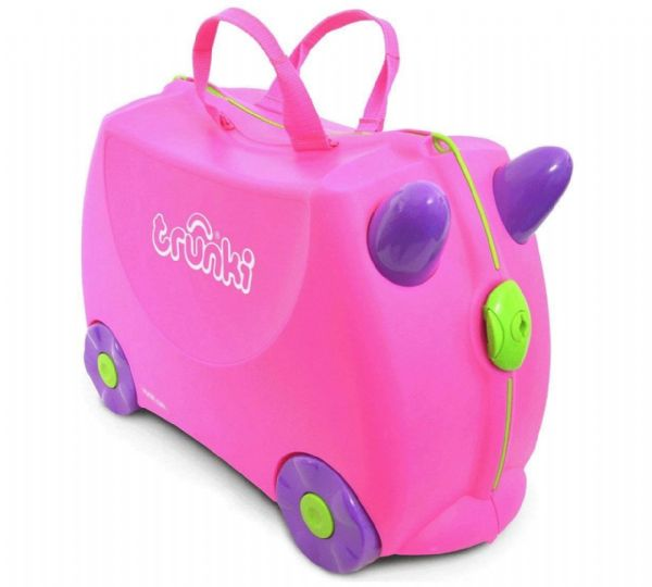 Trunki Trixie Ride On Hand Luggage Pull Along Suitcase For Children / Kids Pink